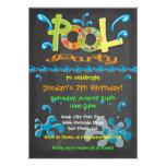 Bunte Tafel-Pool-Party Einladungen