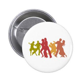 Bunte Tango-Tänzer Runder Button 5,7 Cm