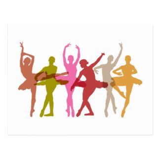 Bunte Tanzen-Ballerinen Postkarte