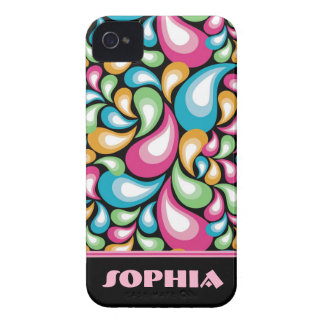 Bunte Teardrops iPhone 4 Cover