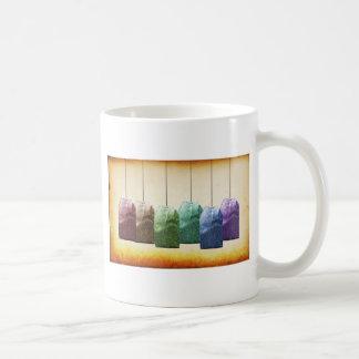 Bunte Teebeutel Kaffeetasse