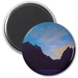 Bunte Teton Nacht Runder Magnet 5,1 Cm