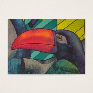 Bunte Toucan Graffiti Jumbo-Visitenkarten