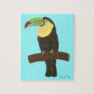 Bunte Toucan Vogel-Malerei, Bild-Puzzlespiel Puzzle