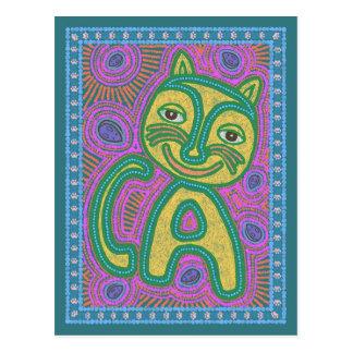 Bunte Traumland-Katze Postkarte
