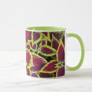 Bunte tropische Blatt-Pflanzen-Kaffee-Tasse Tasse