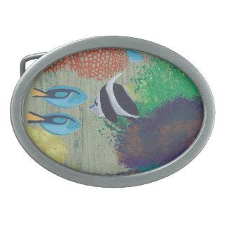 Bunte tropische Fisch-Gürtelschnallen Ovale Gürtelschnalle