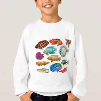 Bunte tropische Fische Sweatshirt
