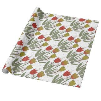 Bunte Tulpen auf weißem bckgrnd, Packpapier