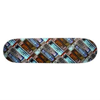 Bunte Tür-Collage Bedrucktes Skateboard