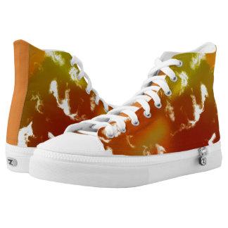 #Bunte Unisex Sneakers in Orange/Grün/Gelb
