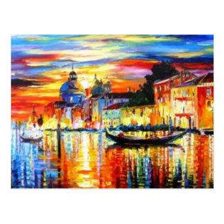 Bunte Venedig-Postkarte Postkarte
