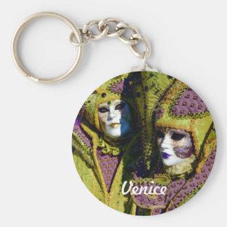 Bunte venezianische Paare Schlüsselanhänger