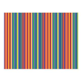 Bunte vertikale Linie Muster Postkarte