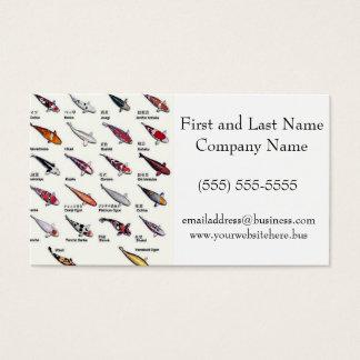 Bunte Vielzahl von Koi Fischen, die Muster Visitenkarten