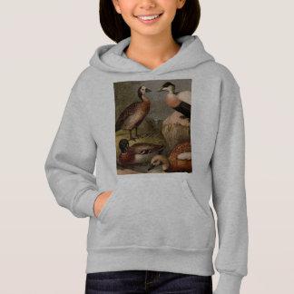 Bunte Vintage Malerei der Enten Hoodie