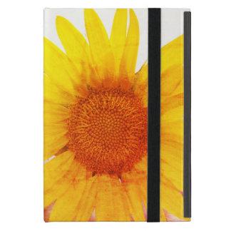 Bunte Vintage Sonnenblume iPad Mini Hülle