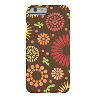 Bunte Vintage Sonnenblumen Barely There iPhone 6 Hülle