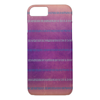 Bunte violette strukturierte Linien Muster-Fall iPhone 7 Hülle