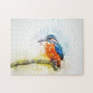 Bunte Vogel-Illustration Puzzle