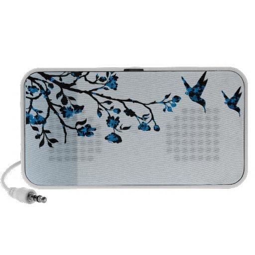 Bunte Vögel und Blumenmuster Speaker