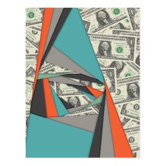 Bunte Währungs-Collage Postkarte