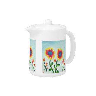 Bunte Watercolor-Blumen