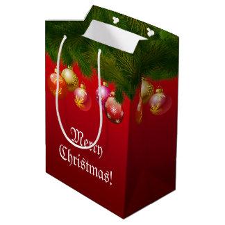 Bunte Weihnachtsdekorationen Mittlere Geschenktüte