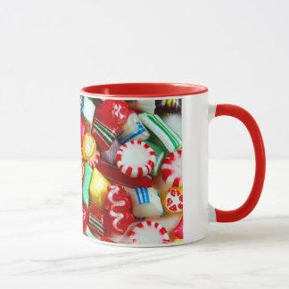 Bunte Weihnachtssüßigkeits-Tasse Tasse