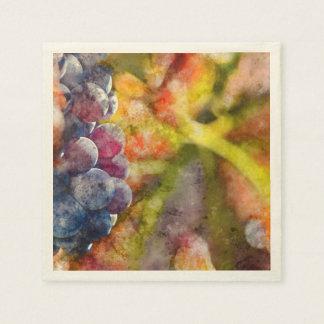 Bunte Weintrauben auf der Rebe Papierserviette