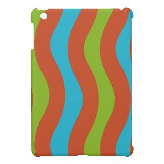 Bunte Wellen-Streifen iPad Mini Hülle