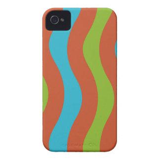 Bunte Wellen-Streifen iPhone 4 Hüllen