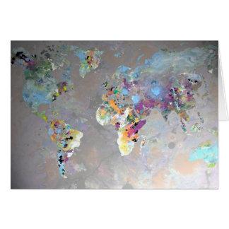 Bunte Welt Karte