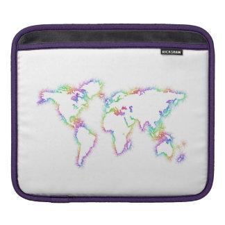 Bunte Weltkarte Sleeve Für iPads