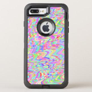Bunte wirbelnde geometrische Formen OtterBox Defender iPhone 8 Plus/7 Plus Hülle