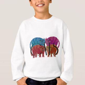 Bunte wunderliche Katzen für den Katzen-Liebhaber Sweatshirt