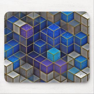 Bunte Würfel-geometrisches Muster Mousepad