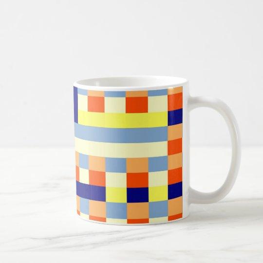 Bunte Würfel Kaffeetasse