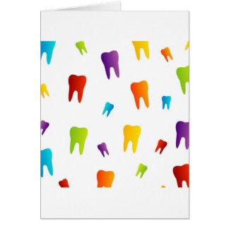 Bunte Zähne Karte