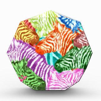 Bunte Zebra-Herden-Collage Auszeichnung