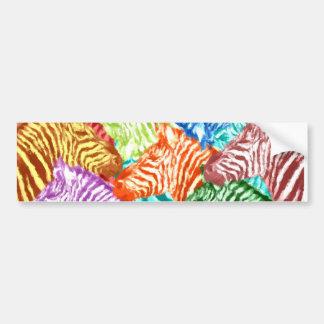 Bunte Zebra-Herden-Collage Autoaufkleber