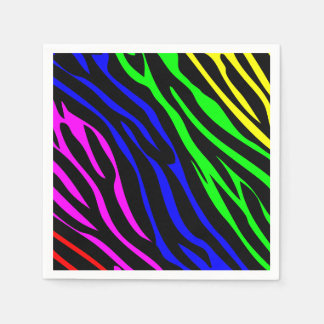 Bunte Zebrabeschaffenheit Serviette