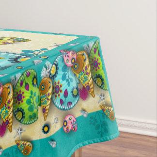 Bunte zeitgenössische Seashells-Tischdecke Tischdecke