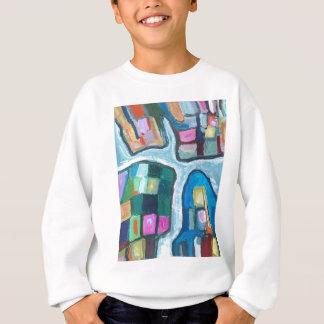 Bunte zelluläre Bucht (abstrakter Expressionismus) Sweatshirt