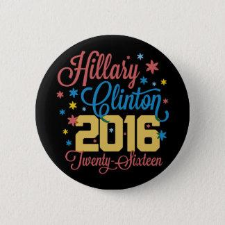 Bunte zwanzig sechzehn Hillary Runder Button 5,7 Cm