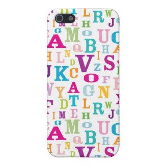 Bunter ABCs Kasten Muster-iPhone4 iPhone 5 Schutzhüllen