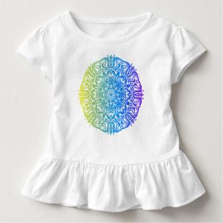 Bunter abstrakter ethnischer Blumenmandalaentwurf Kleinkind T-shirt