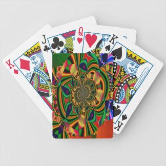Bunter abstrakter Fahrrad-Poker-Spielkarten Bicycle Spielkarten