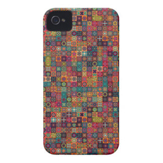 Bunter abstrakter Fliesenmusterentwurf iPhone 4 Hüllen