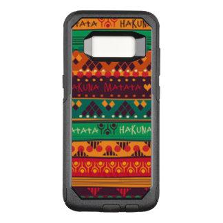 Bunter Afrikaner keine Sorge-Typografie OtterBox Commuter Samsung Galaxy S8 Hülle